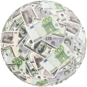 Money goes around the globe